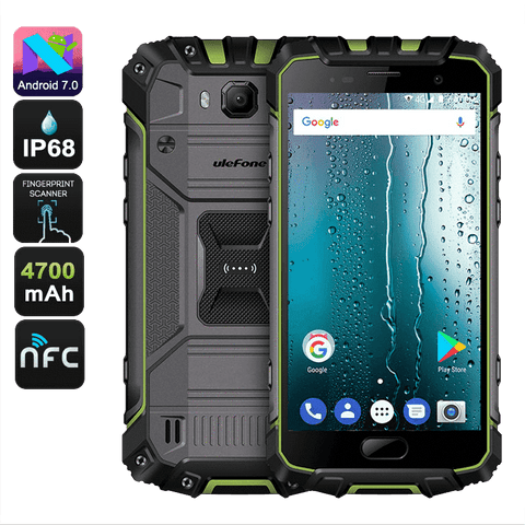 Rugged Phones - UleFone Armor 2S Rugged Android 7.0 Smartphone - 2GB RAM, 16GB, Dual-SIM
