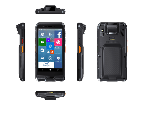 RSHT-6W - 6'' Windows Rugged Handheld 1D/2D barcode scanning Terminal