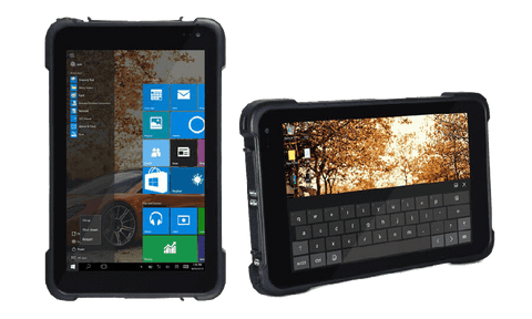 "Rugged Scanning Tablets - RST-8W - 8"" Windows Rugged 1D/2D Barcode Scanning Tablet"