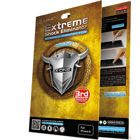 X-ONE Extreme Shock Eliminator screen protector for iPhone 6