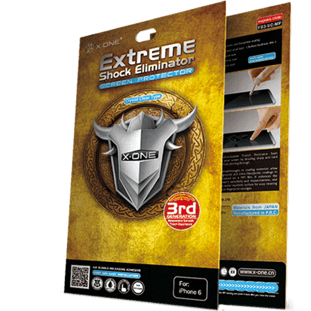 X-ONE Extreme Shock Eliminator screen protector for iPhone 7