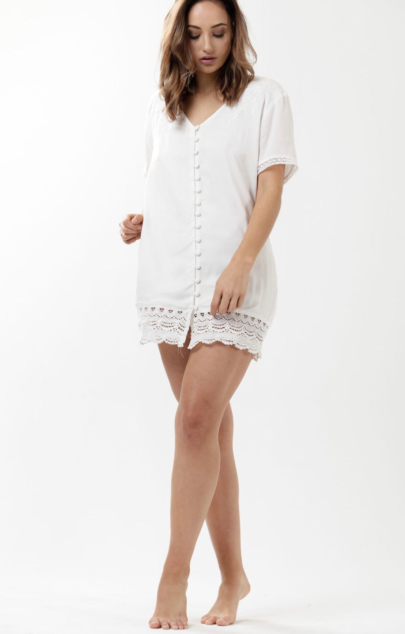 Heartland Lace Play Dress - Lily White