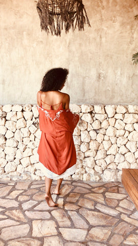 Folkstone Backless Cami - Burnt Umber