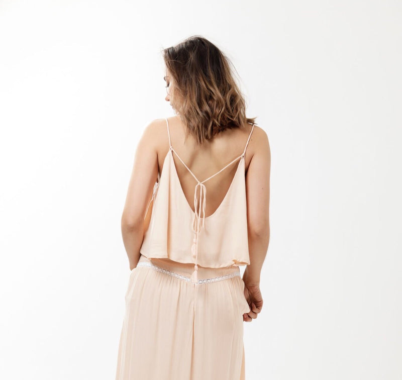 Folkstone Backless Cami - Dusty Pink