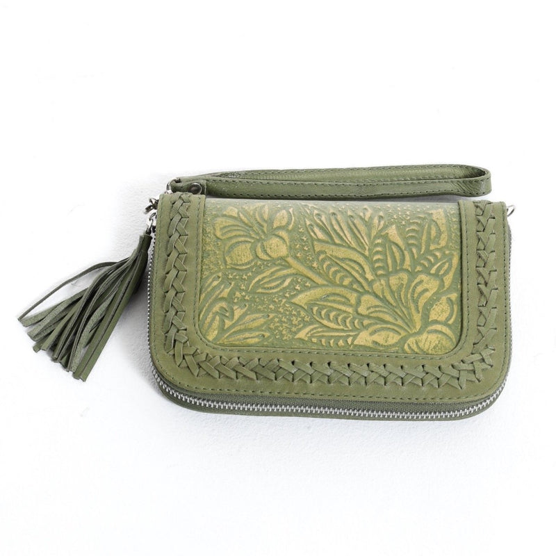 Lilou Travel Wallet -  Olive