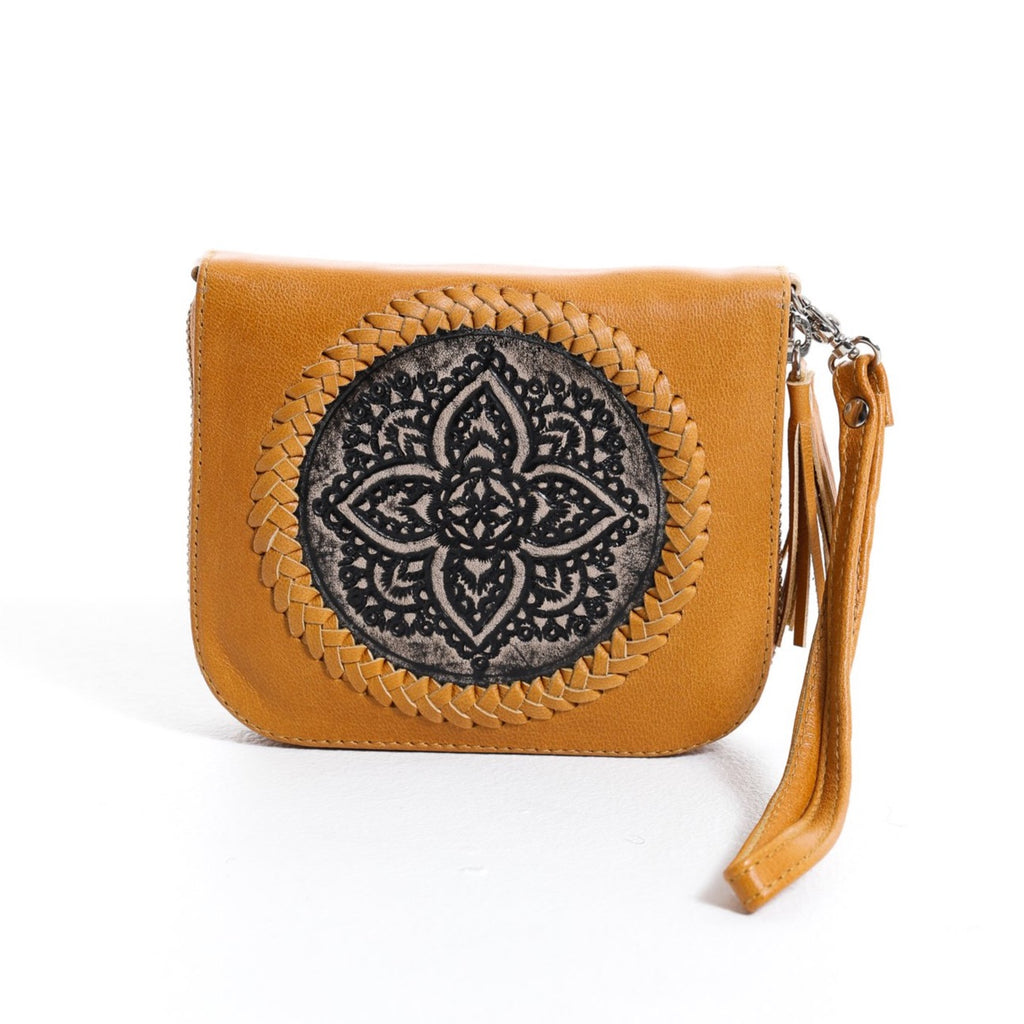 Mini Indi Wallet - Tan & Black
