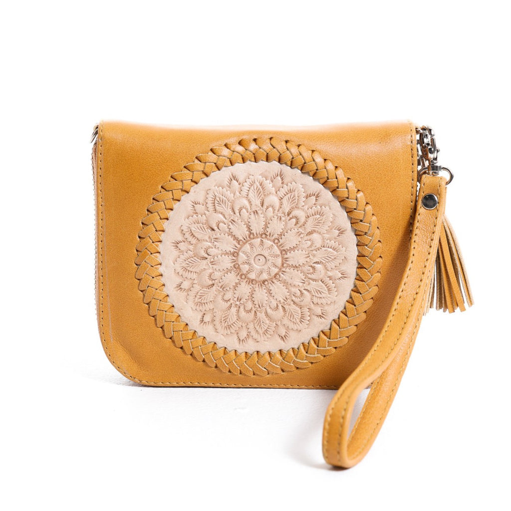 Mini Indi Wallet - Tan & Blush
