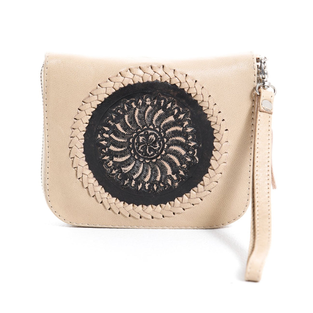 Mini Indi Wallet - Blush & Black