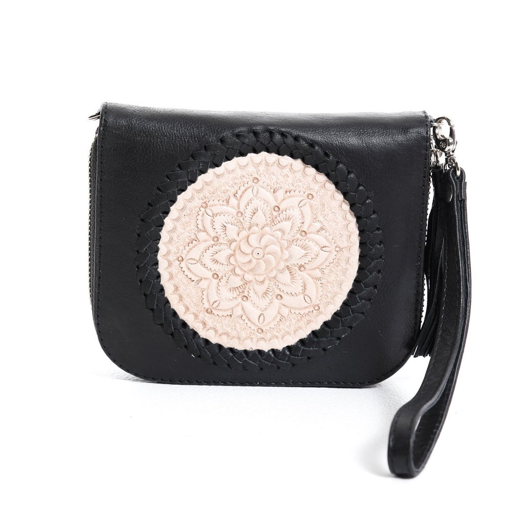 Mini Indi Wallet - Black & Blush