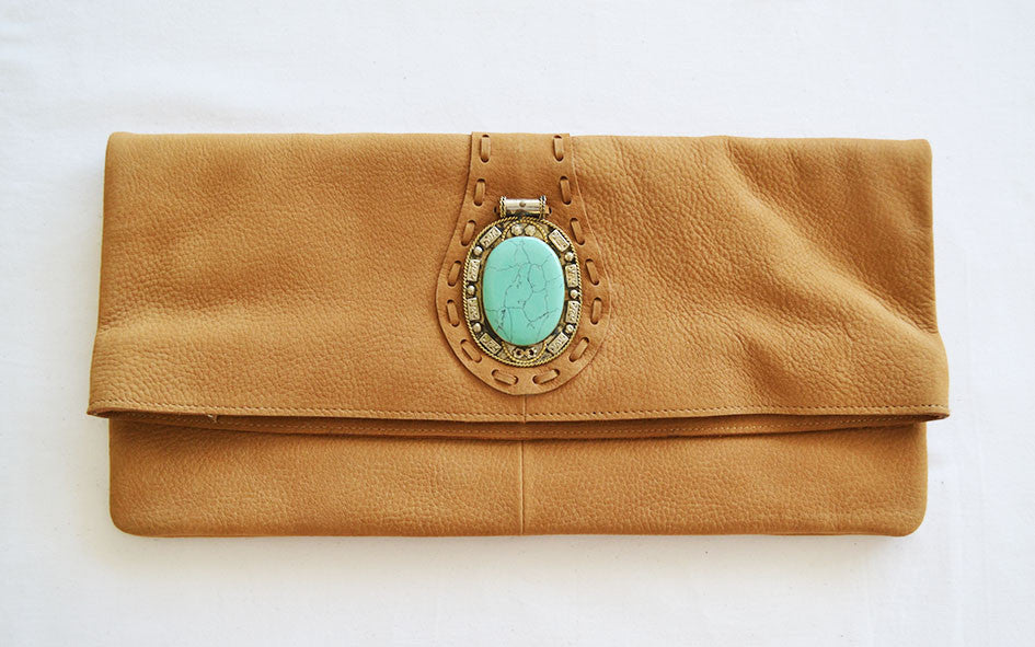 El Sol Clutch - Tan