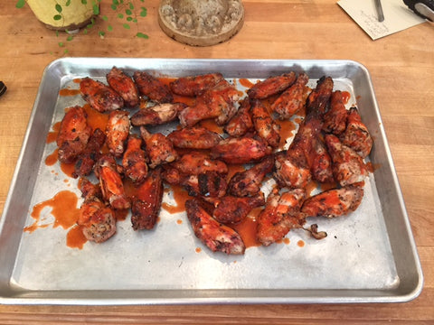 Spicy wings recipe on the big green egg