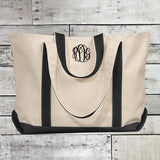 Canvas Tote Bag (Colored Handles)