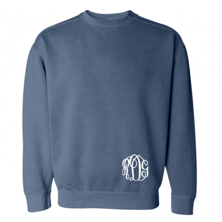 Comfort Colors Crewneck Sweatshirt (Small Monogram)