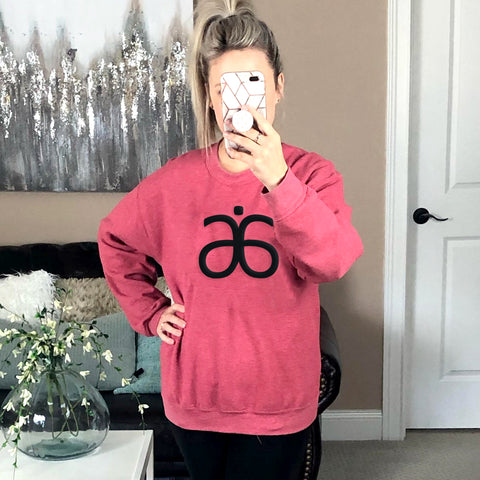 Crewneck Sweatshirt with Embroidered Arbonne Logo