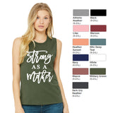 """Strong as a Mother"" Bella+Canvas ® Women's Jersey Muscle Tank"