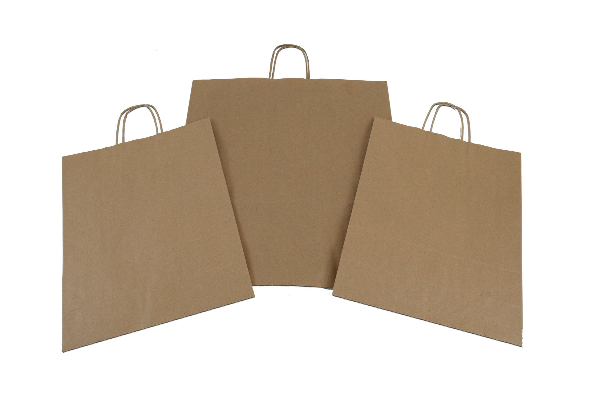Brown paper carrier bags twisted handles