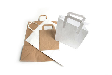 CARRIER BAGS - PAPER TAPE HANDLE TAKEAWAYS BAGS - northeastpaper.co.uk