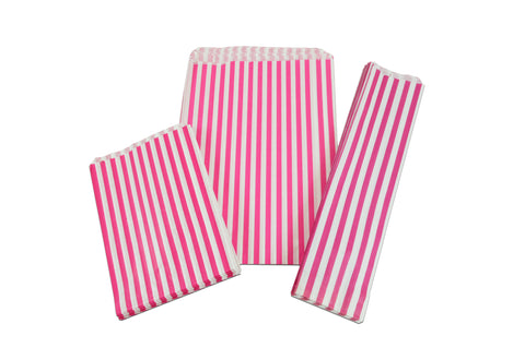 Paper Bags - Printed Candy Stripe (2 Colour Choices)