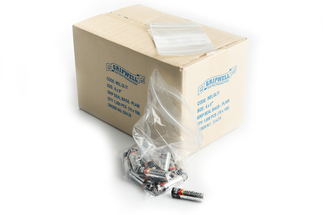Grip Seal Bags - Heavy Duty (plain).