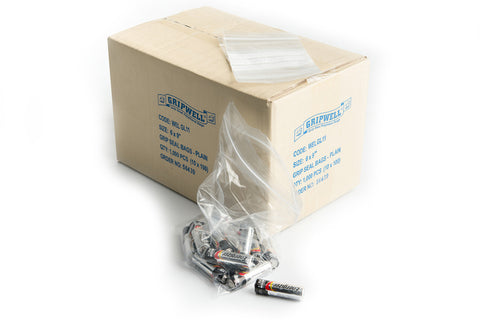 GRIP SEAL BAGS - PLAIN (CLEAR) - northeastpaper.co.uk