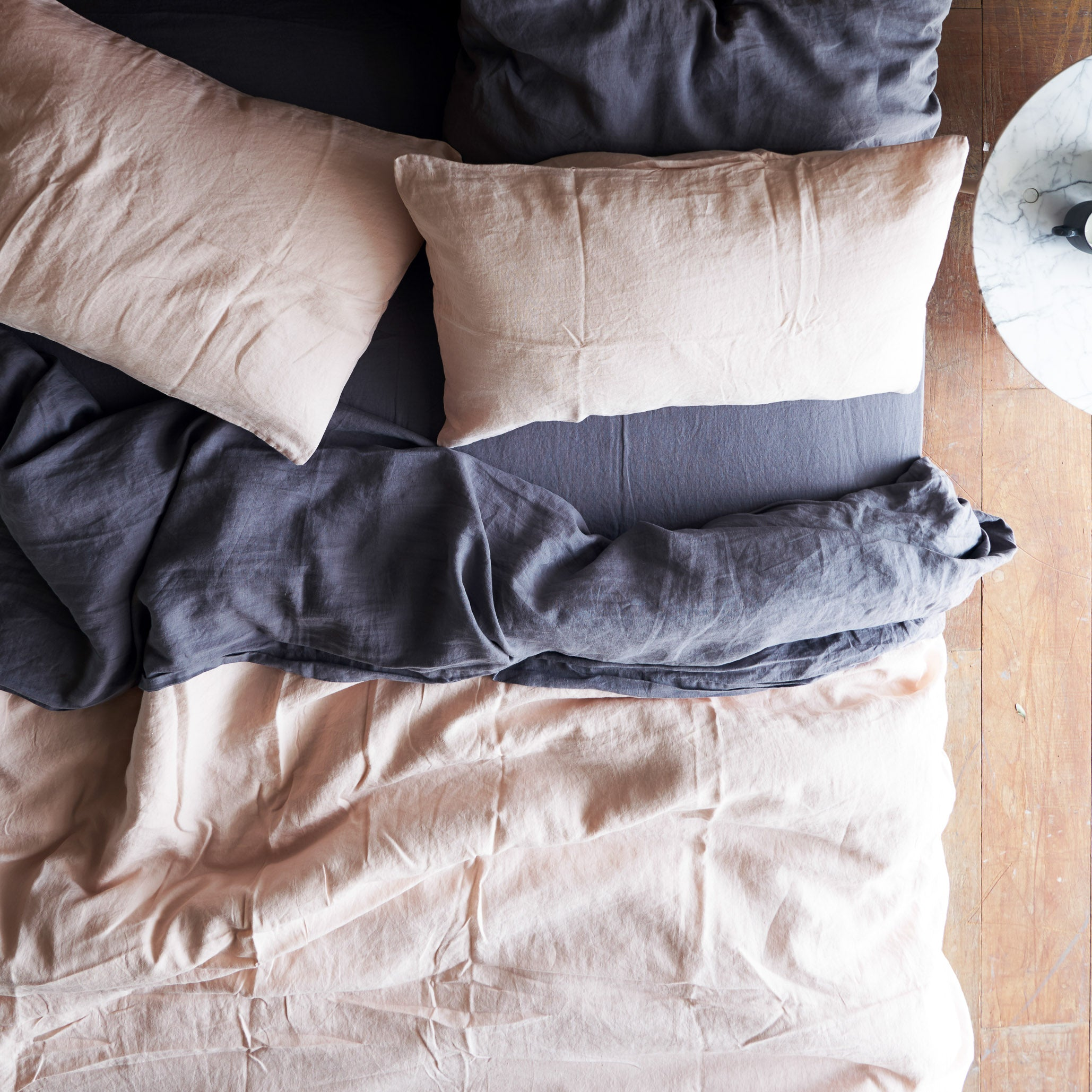 Linen Duvet Set | Blush
