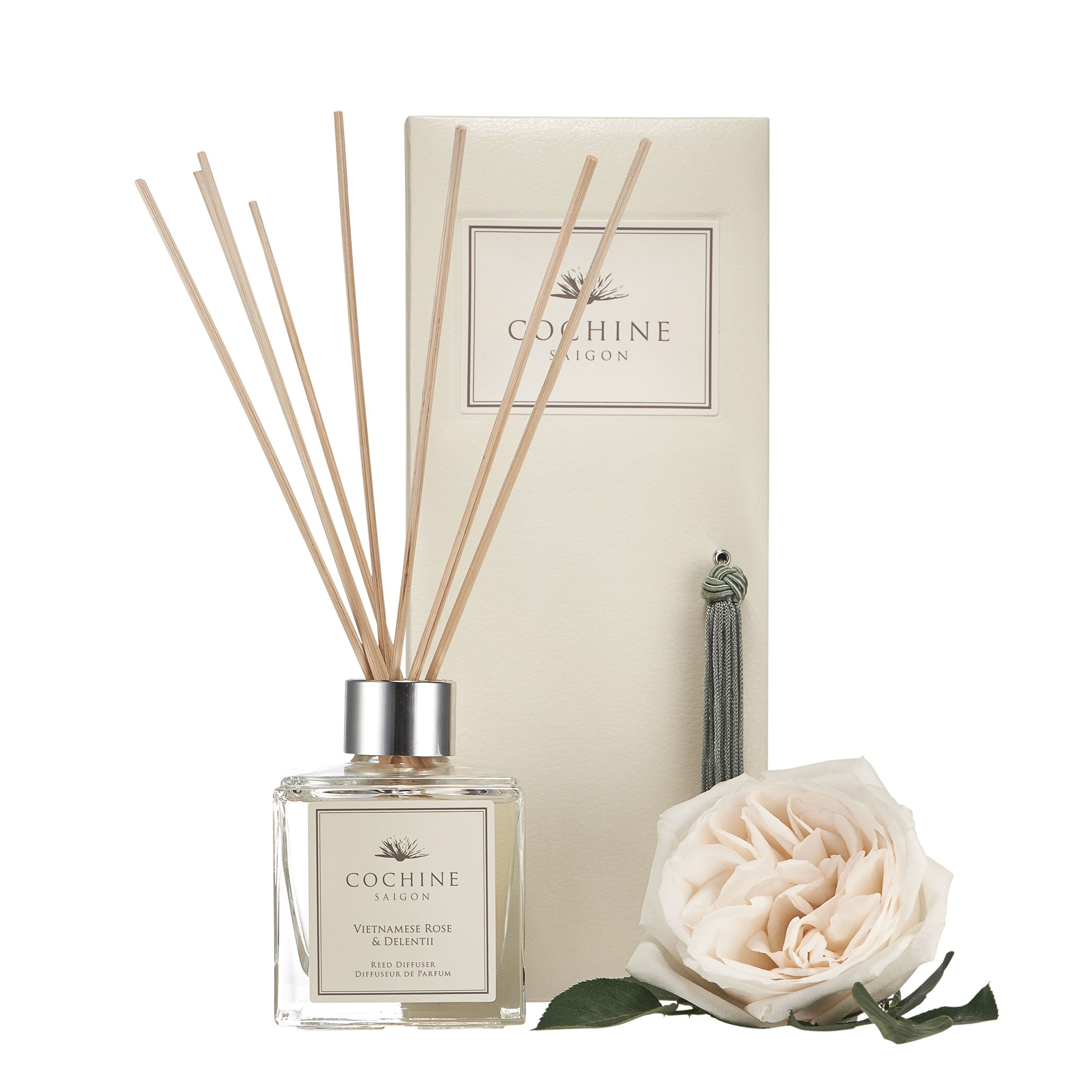 Reed Diffuser | Vietnamese Rose & Delentii