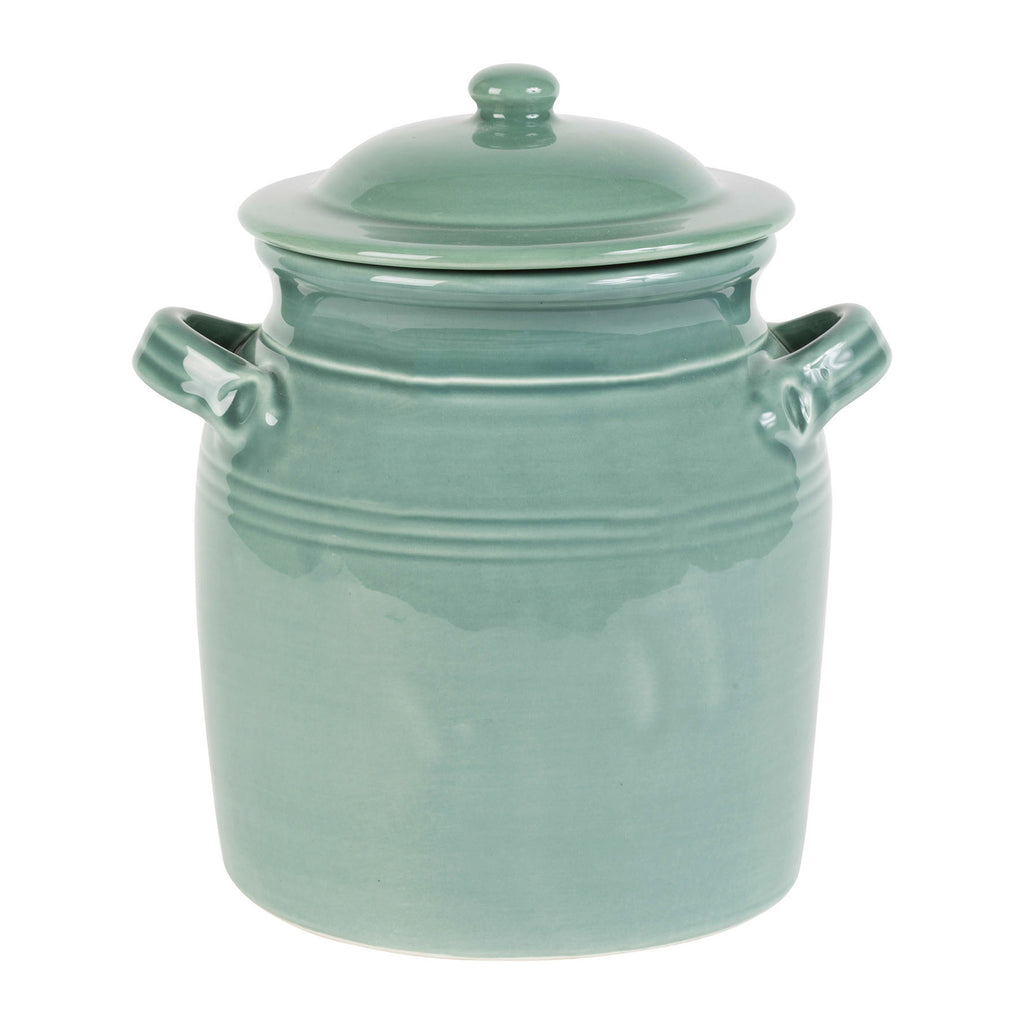 Dulci Pot w/Lid Sage Green