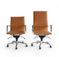 Office Chair | Tan Leather