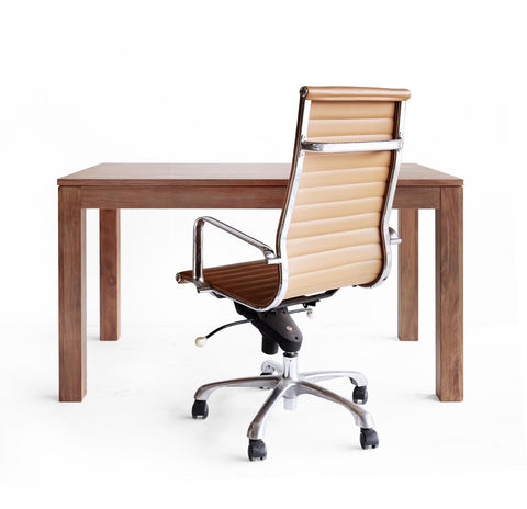 Office Chair | White Leather