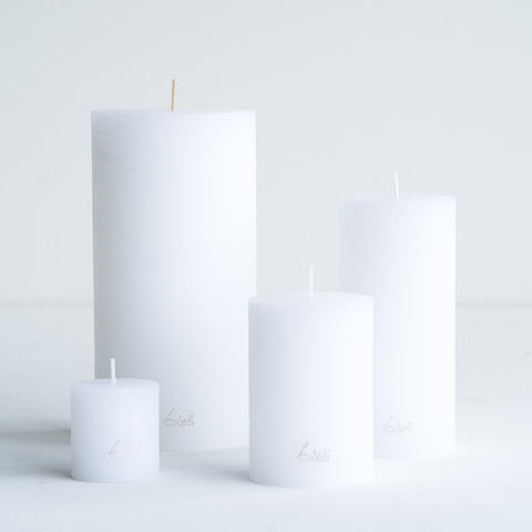 Rustic Candle | White