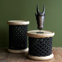 Bamileke Stool | Black-Natural - Originals Furniture