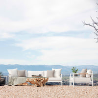 Outdoor 2 Seater Sofa | Breeze LX White - Originals Furniture