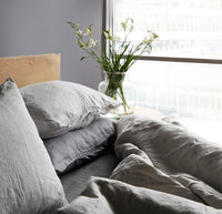 Linen Duvet Set | Smoke Grey - Originals Furniture