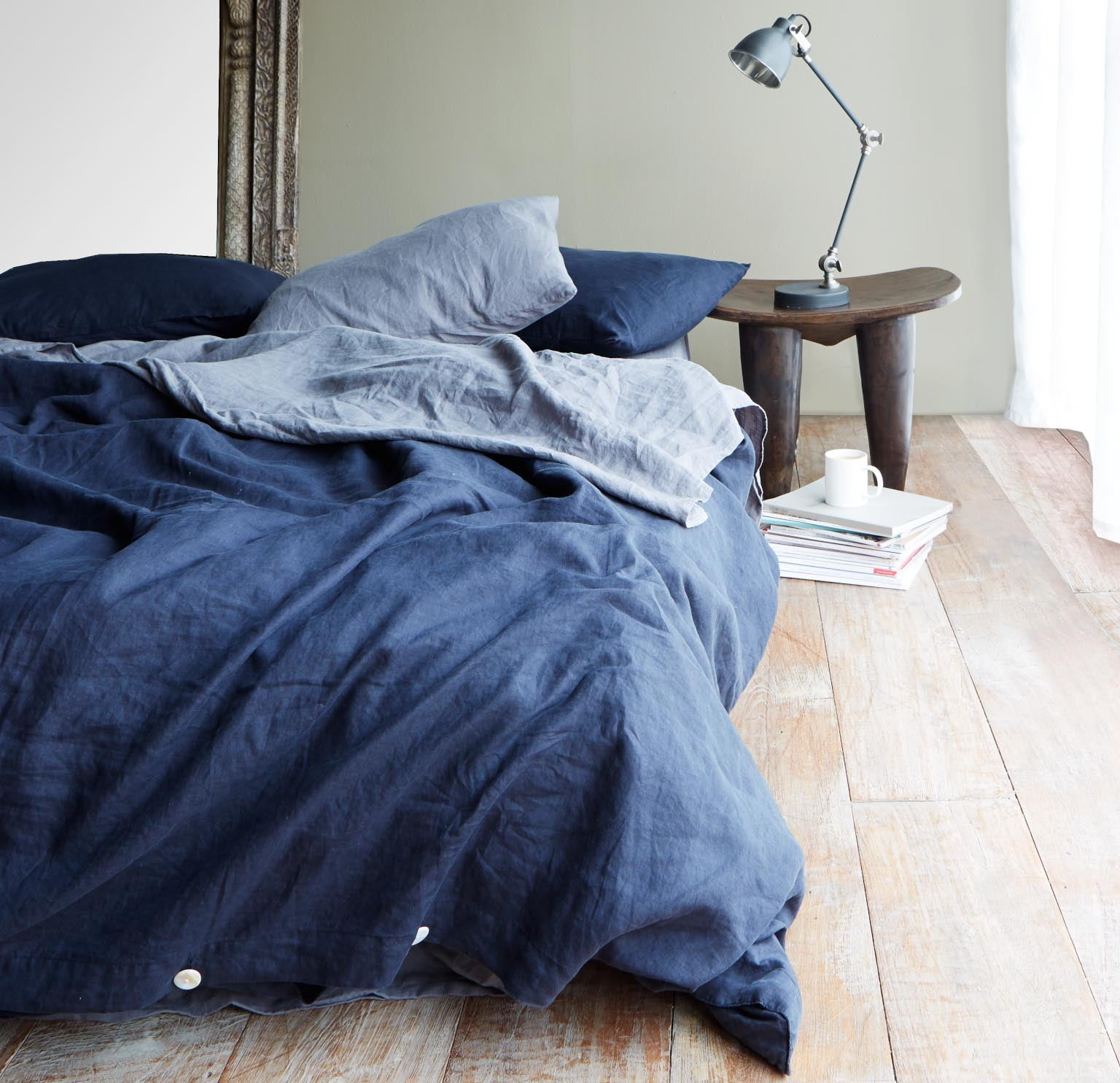 Linen Duvet Set | Navy