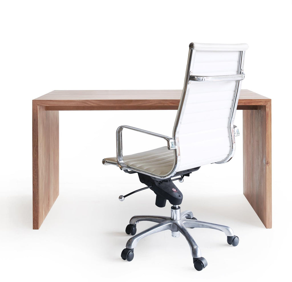 Office Chair | Ardent White Leather