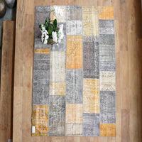 Patchwork Rug | Greyish Yellow W302 x L199 cm - Originals Furniture