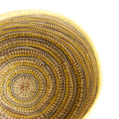 Flat Lid African Baskets | Tri-Yellow