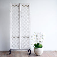 Diamond Room Divider | White 2 Panel - Originals Furniture
