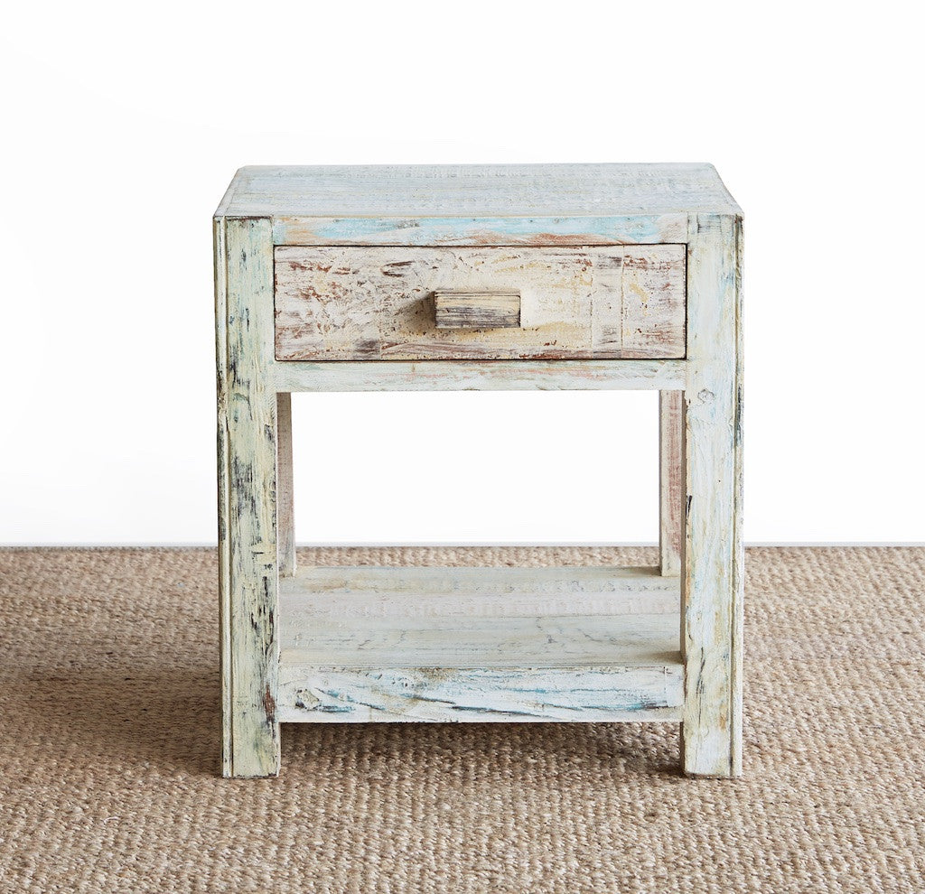 Frame Bedside Table | Short -1 Drawer-Nomad India-Originals Furniture - 2