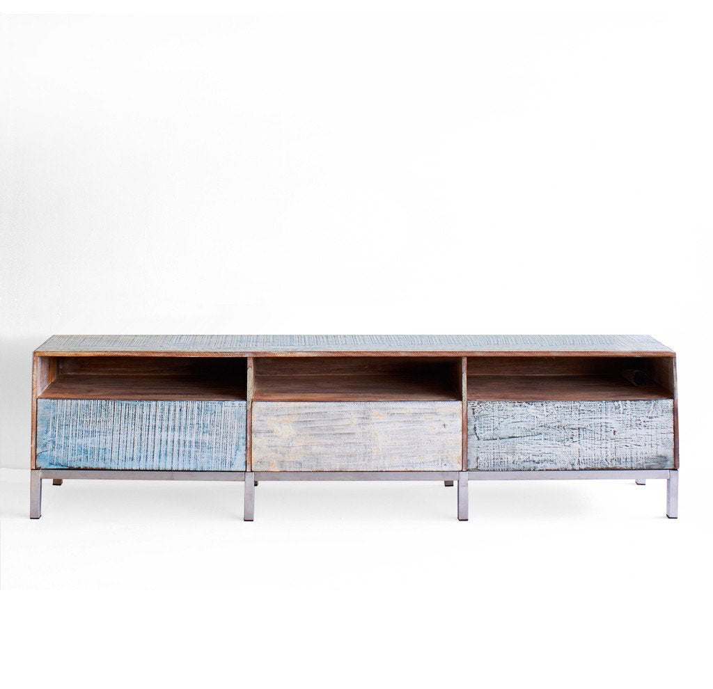 TV Console Recycled 3 Drw,