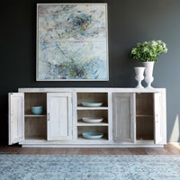 Ledge Sideboard with Full Doors | 4 Doors / 3 Shelves - Originals Furniture