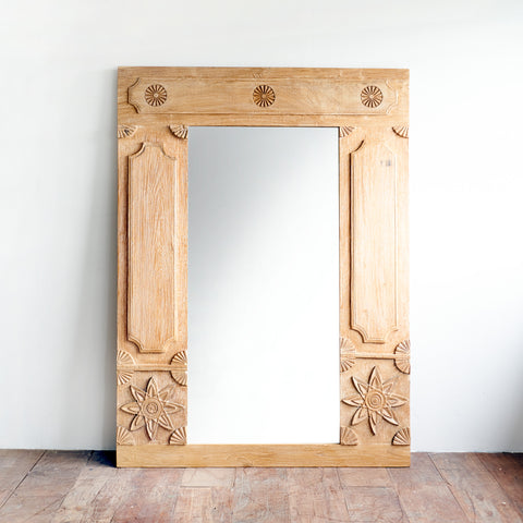 Carved Teak Mirror AH