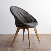 Dining Chair Teak | Jack - Dark Grey Wash - Originals Furniture