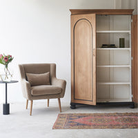 Vintage Tall Cabinet with arched doors | Natural