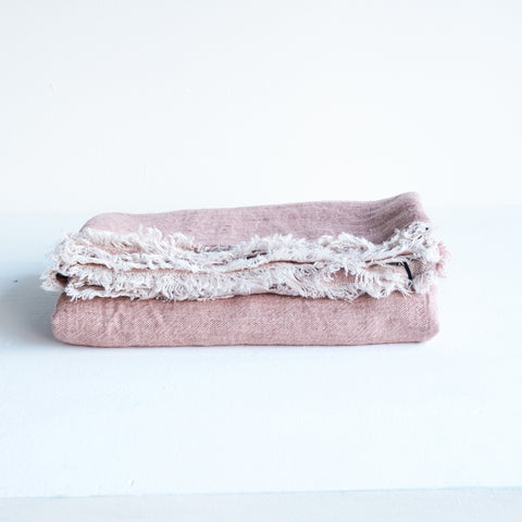 Throw VV Linen | Rosewood