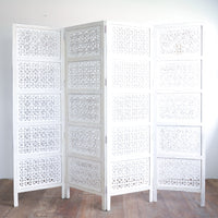 Cross Room Divide | White 4 Panel - Originals Furniture