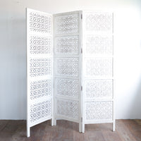 Cross Room Divide | White 3 Panel - Originals Furniture