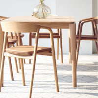 Oak Dining Chair | Inlay - Leather Canyon - Originals Furniture