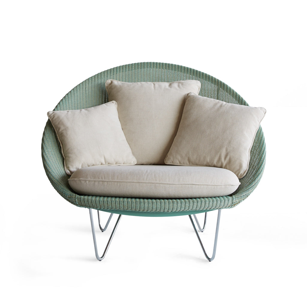 Joe Chair Aqua | White Cushions