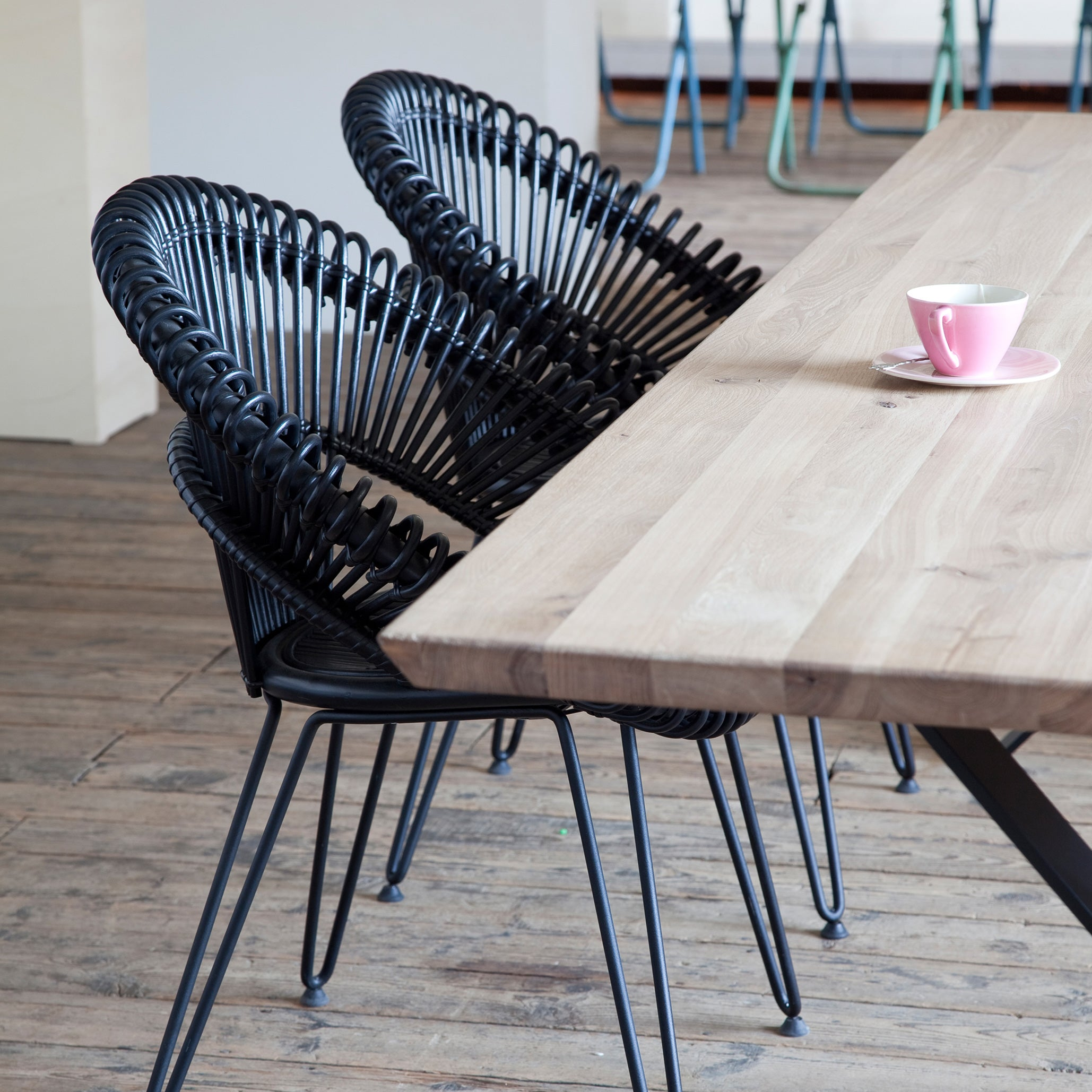 Dining Chair | Curly - Black